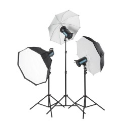 Zestaw lamp Quadralite Pulse 1200 Portrait Kit