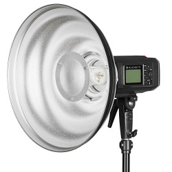 Quadralite Wave Beauty Dish srebrny 55