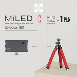 Panel LED Quadralite MiLED Bi-Color 180 with tripod