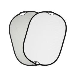Quadralite reflector silver-white with handle 90x120