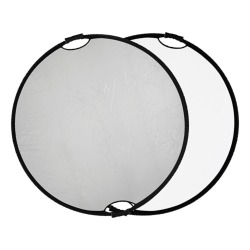 Quadralite reflector silver-white with handle 110cm