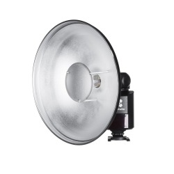 Quadralite Reporter beauty dish